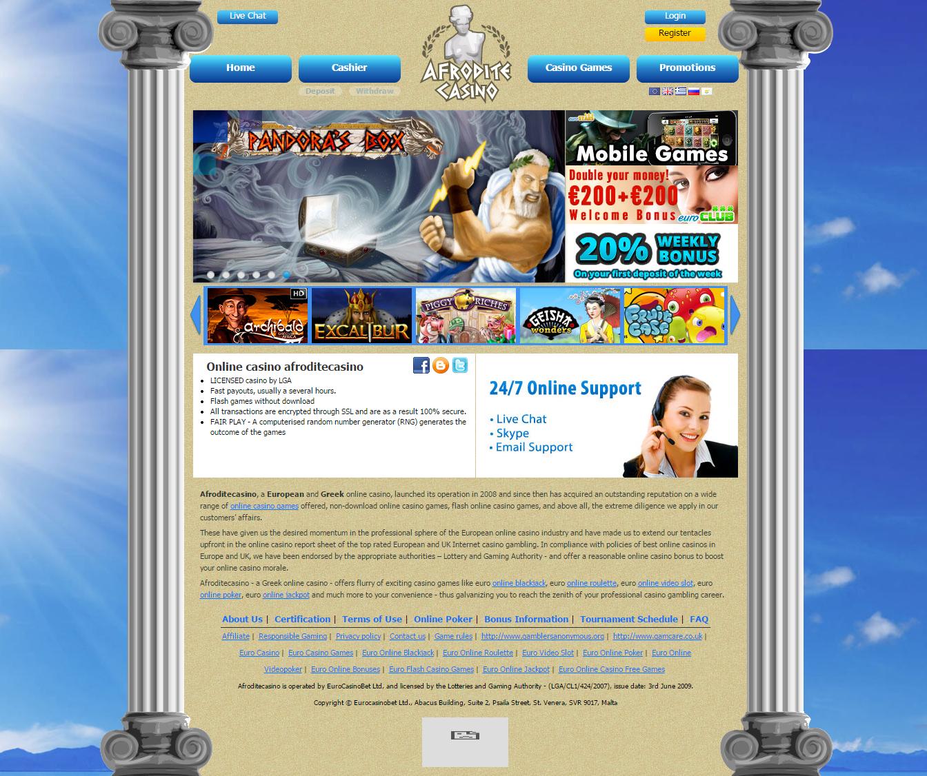 Afrodite Casino Review